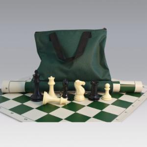 Tournament Chess Set with Canvas Loop Tote - 4 Inch King