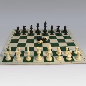 Tournament Chess Set with Vinyl Board