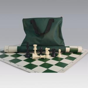 Tournament Chess Set with Canvas Loop Tote - 3.75 Inch King