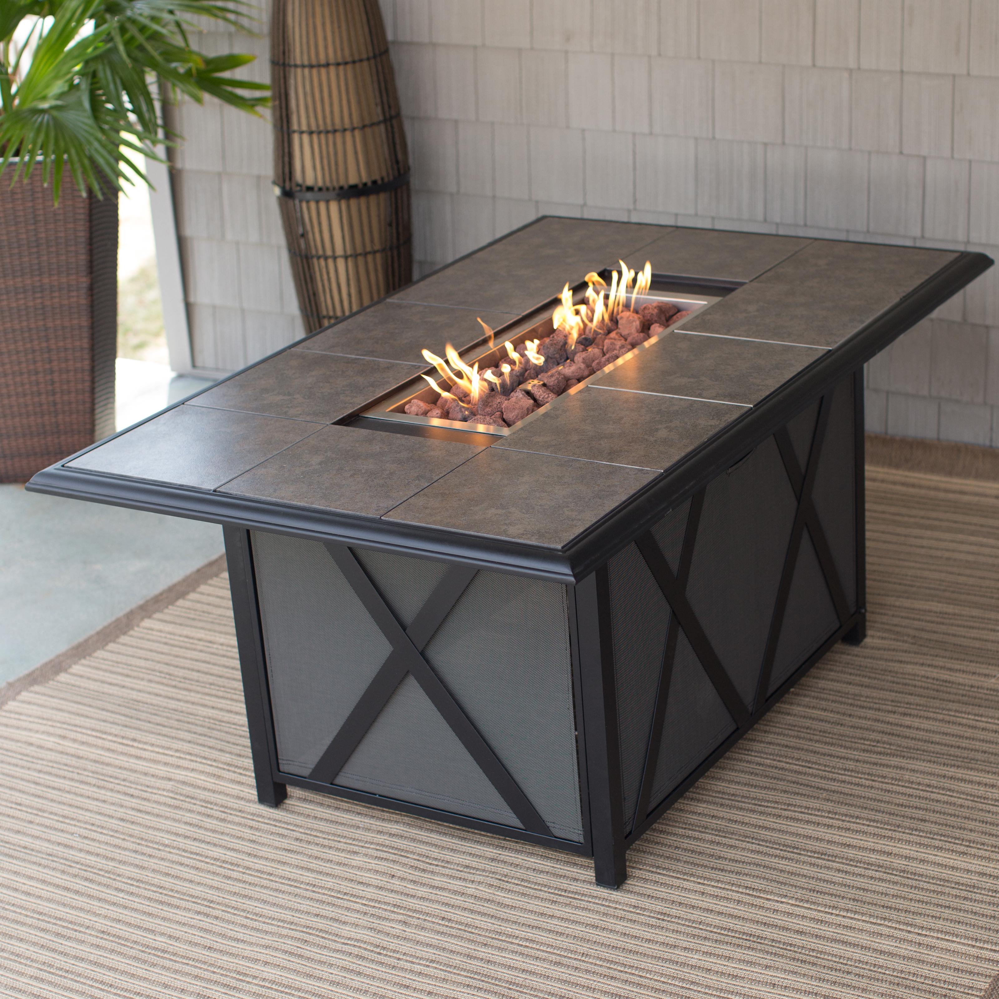Exceptional Round Fire Pit Table | Hayneedle
