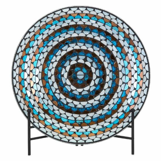 IMAX Cordelia Glass Mosaic Charger with Stand