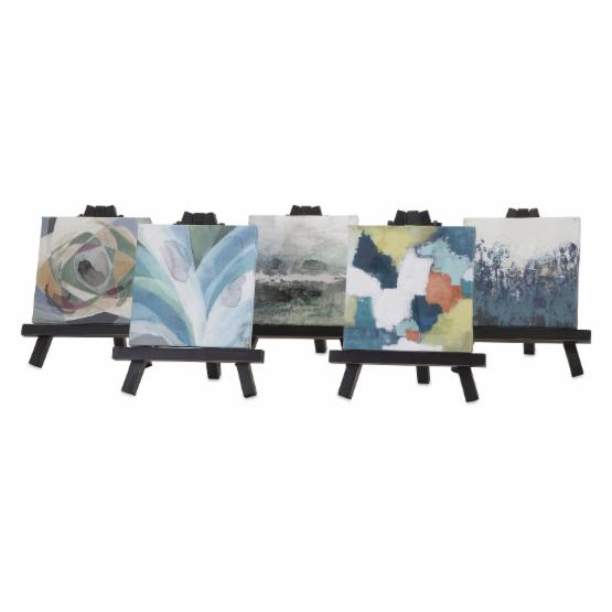IMAX Beth Kushnick Mini Canvas with Easel - Set of 5