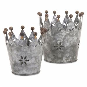 IMAX Maddy Galvanized Crowns - Set of 2