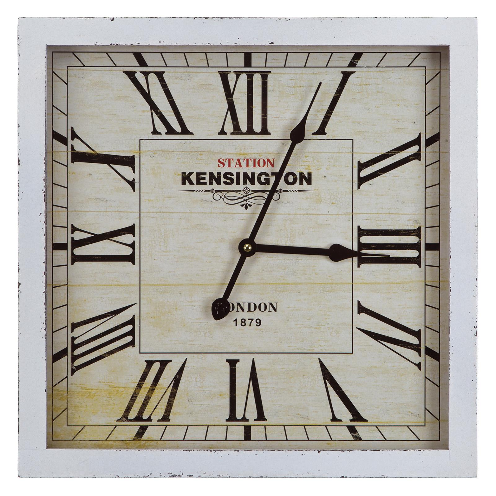 Kensington Station Square Wall Clock - 16W in. - Ivory - CLKA1B950