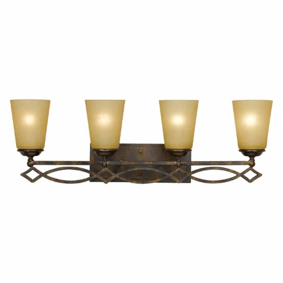 Yosemite Home Decor Scarlet 4-Light Vanity Lighting - 6.5W in. - Bronze with Gold Trim