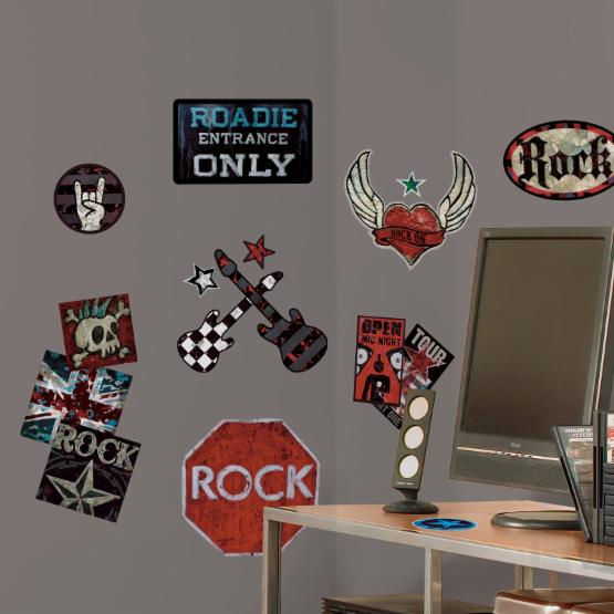 Rock n Roll Peel and Stick Wall Decals