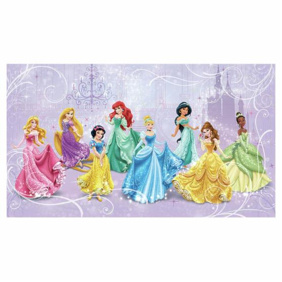 Disney Princess Royal Debut Prepasted Mural 10.5W x 6H ft. - Ultra-strippable