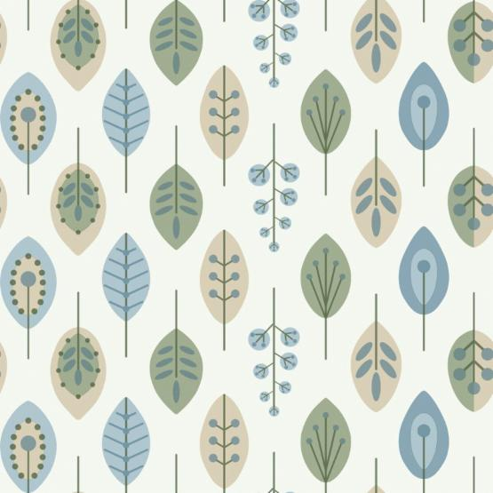 York Wallcoverings Bistro 750 Retro Leaves Wallpaper