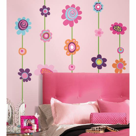 Flower Peel and Stick Giant Wall Decal
