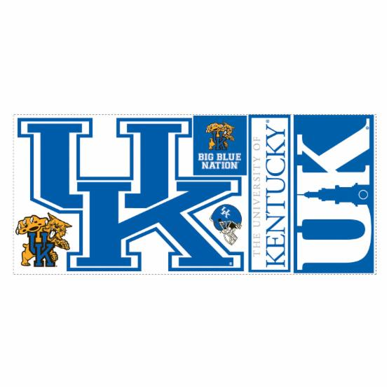 University of Kentucky Giant Peel & Stick Wall Decals - Up to 24W x 16.5H in.