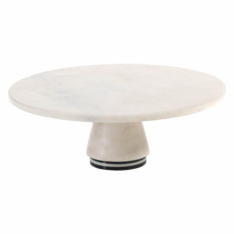 Zodax 12 in. diam. Marine Marble Cake Stand Cheese Board ...
