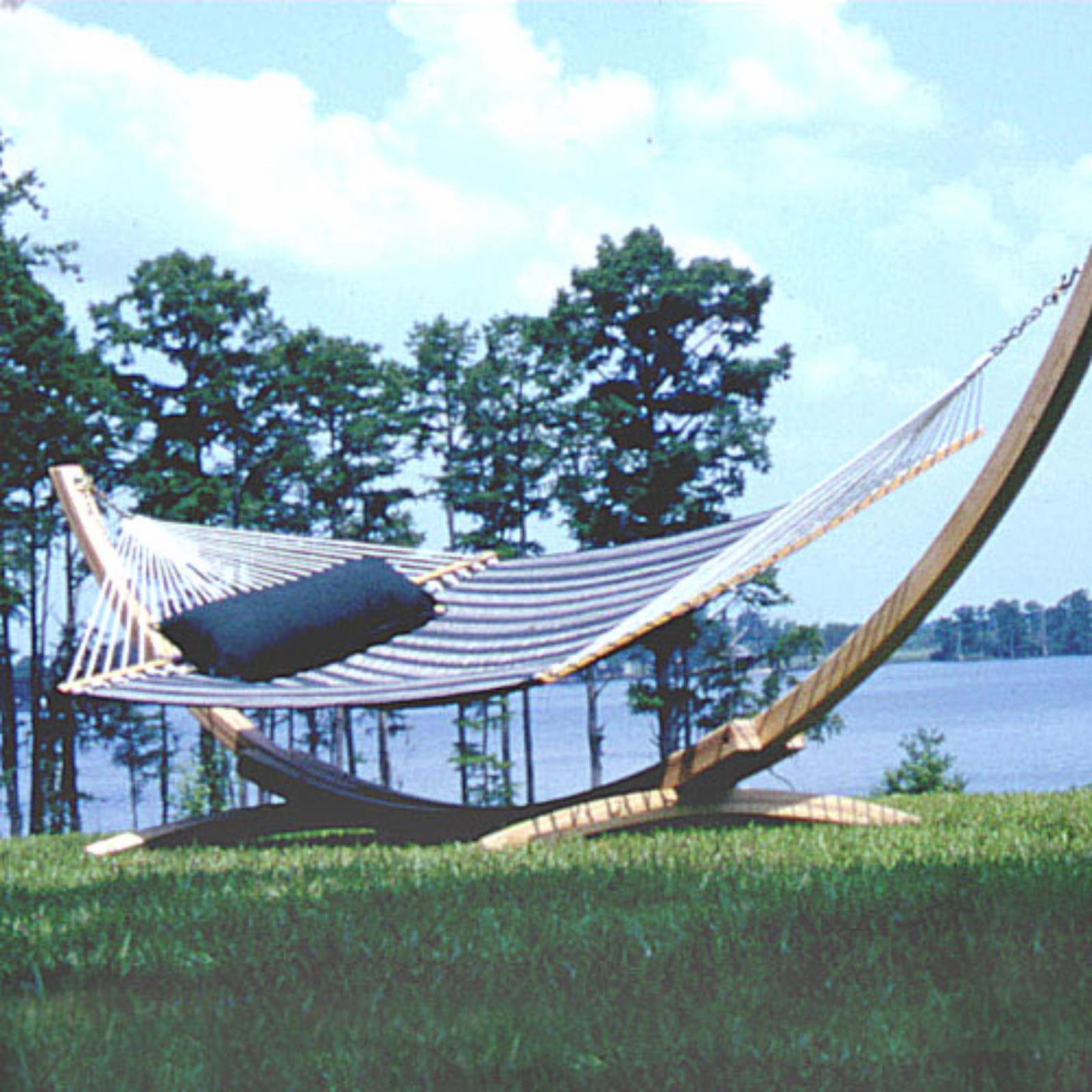 Outdoor Hampton Cypress Arc Hammock Stand-4 Ply
