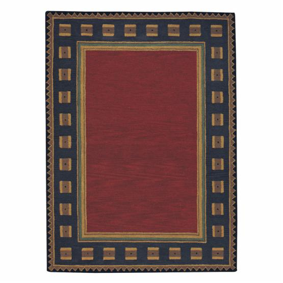 Castle Rock 9233 Hand Tufted Rectangle Area Rug - Poppy