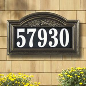 Whitehall Oakleaf Arch Illuminator 1-line Standard Wall and Lawn Plaque