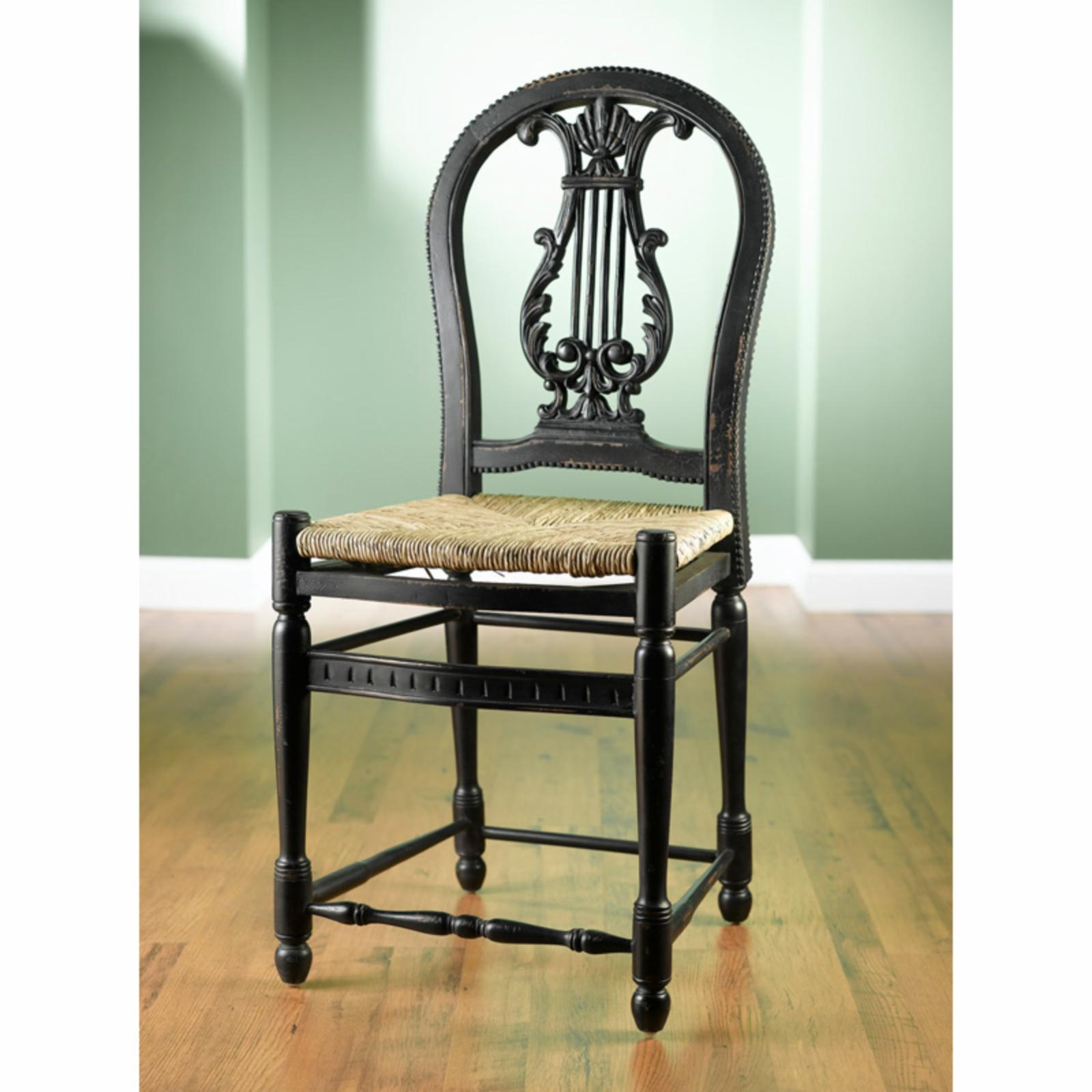 AA Importing Lyre 24 in. Counter Stool - 43531-BK
