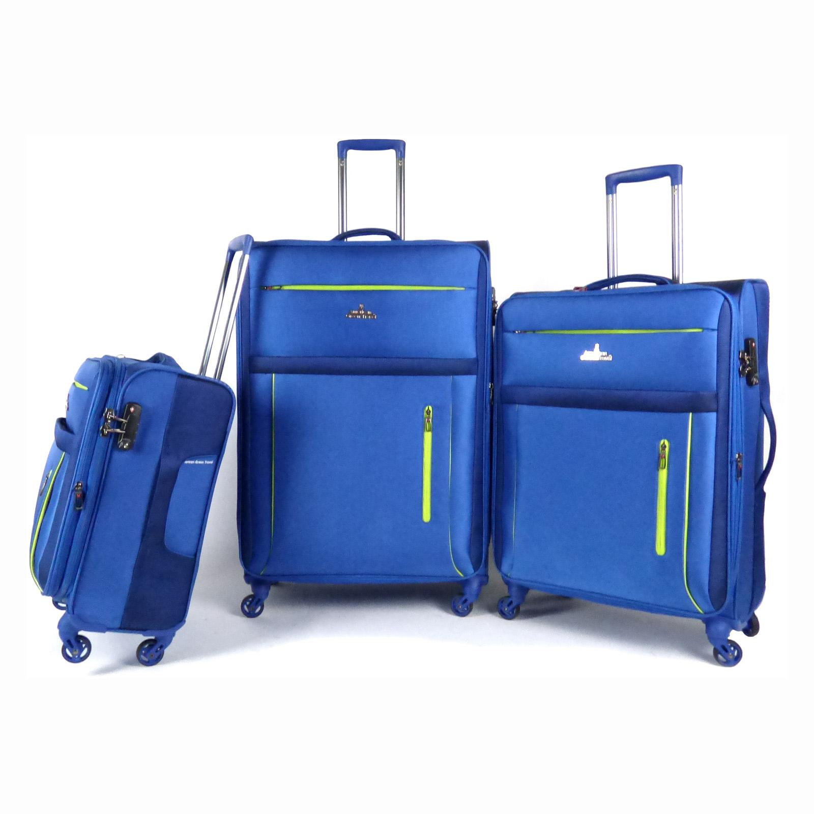 American Green Travel Soteria 3 Piece Luggage Set Navy - ...