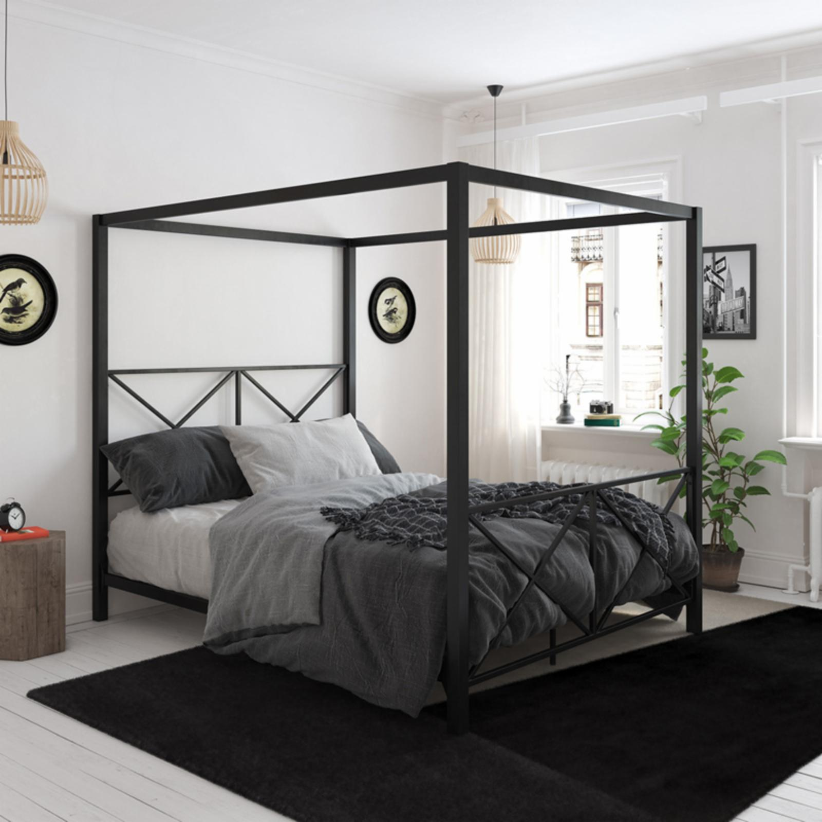 DHP Rosedale Canopy Bed Black - 4068039