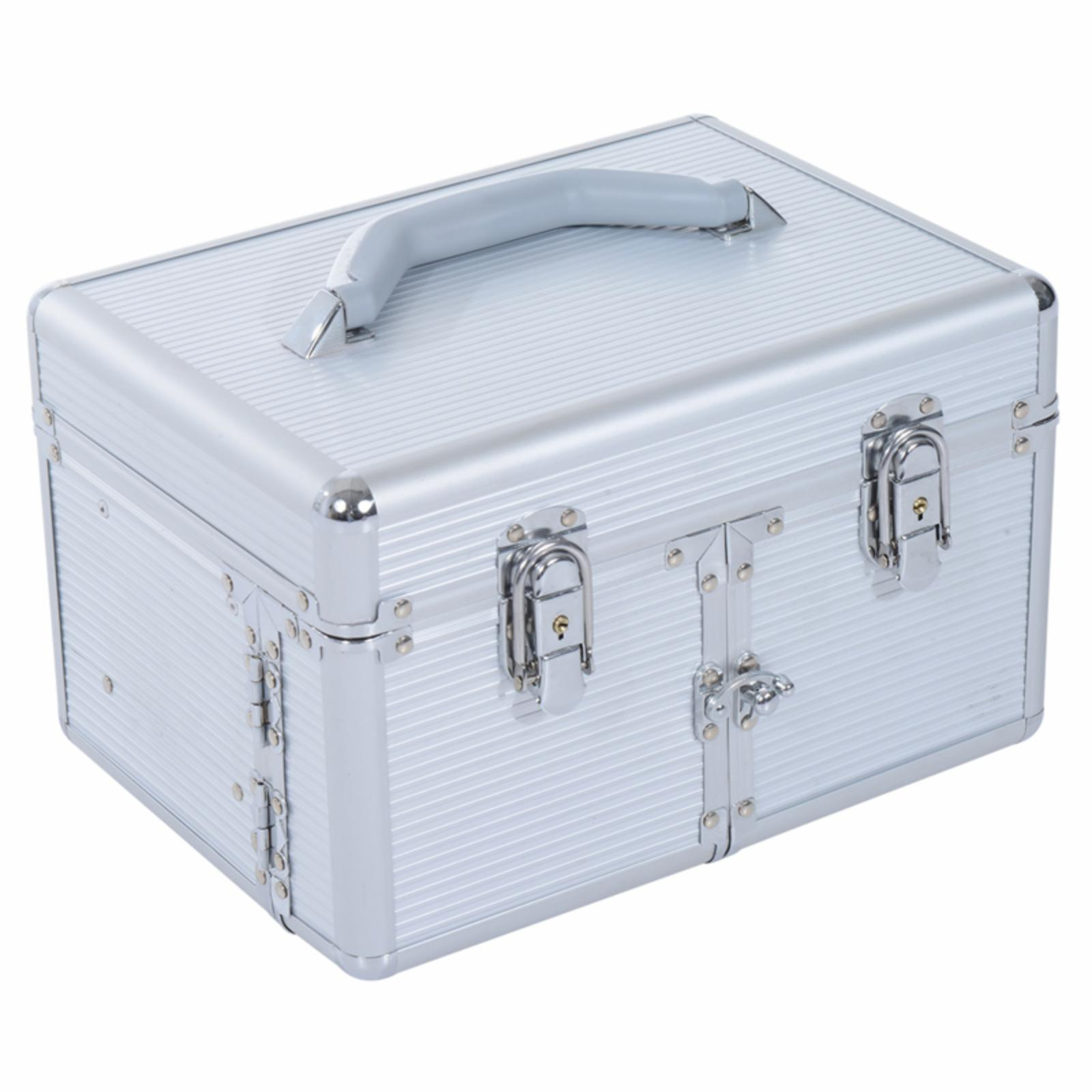Soozier 3 Tier Lockable Cosmetic Makeup Train Case with E...