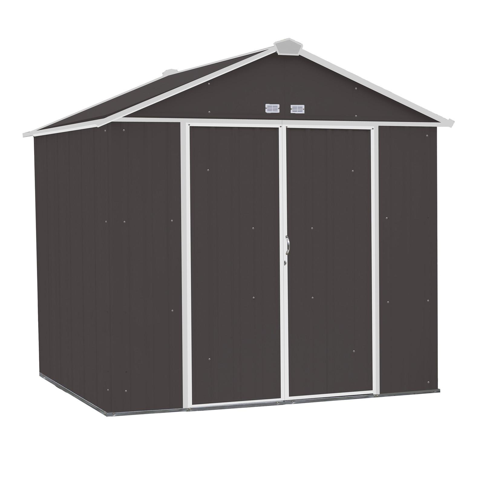 Arrow 8 x 7 ft. Outdoor Steel EZEE Storage Shed - EZ8772HVCCCR