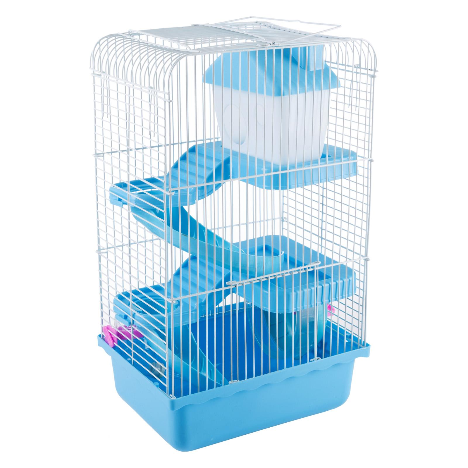 Petmaker Hamster Cage Habitat with Attachments and Accessories Blue - M320259