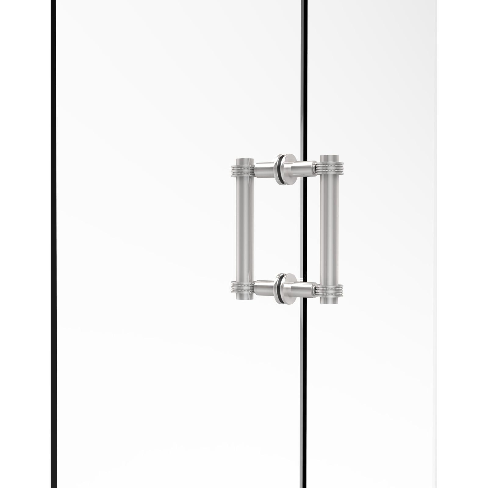 Allied Brass 404D-6BB Back to Back 6 in. Shower Door Pull with Dotted Accents - 404D-6BB-PC