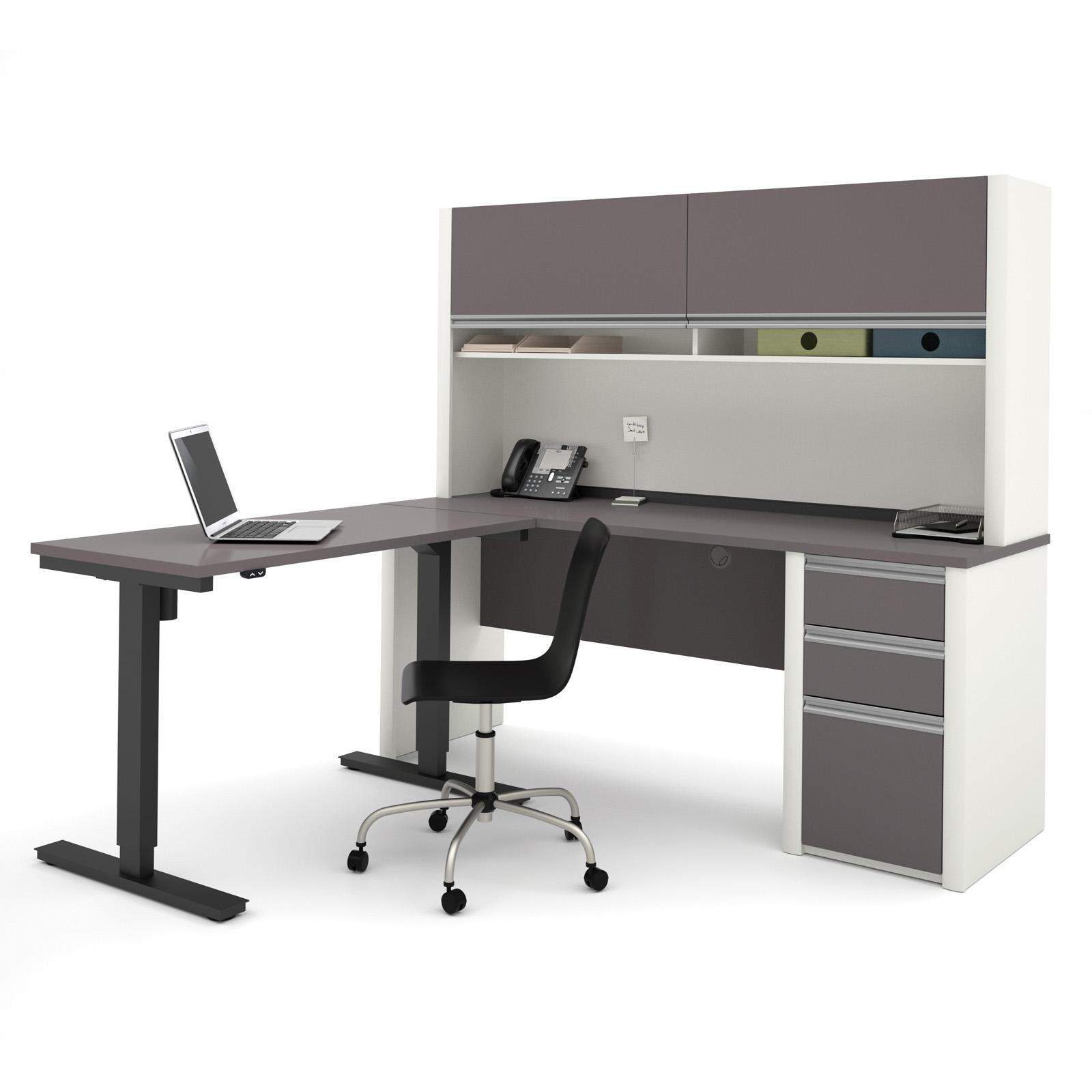 Bestar Connexion L Shaped Electric Adjule Height Desk