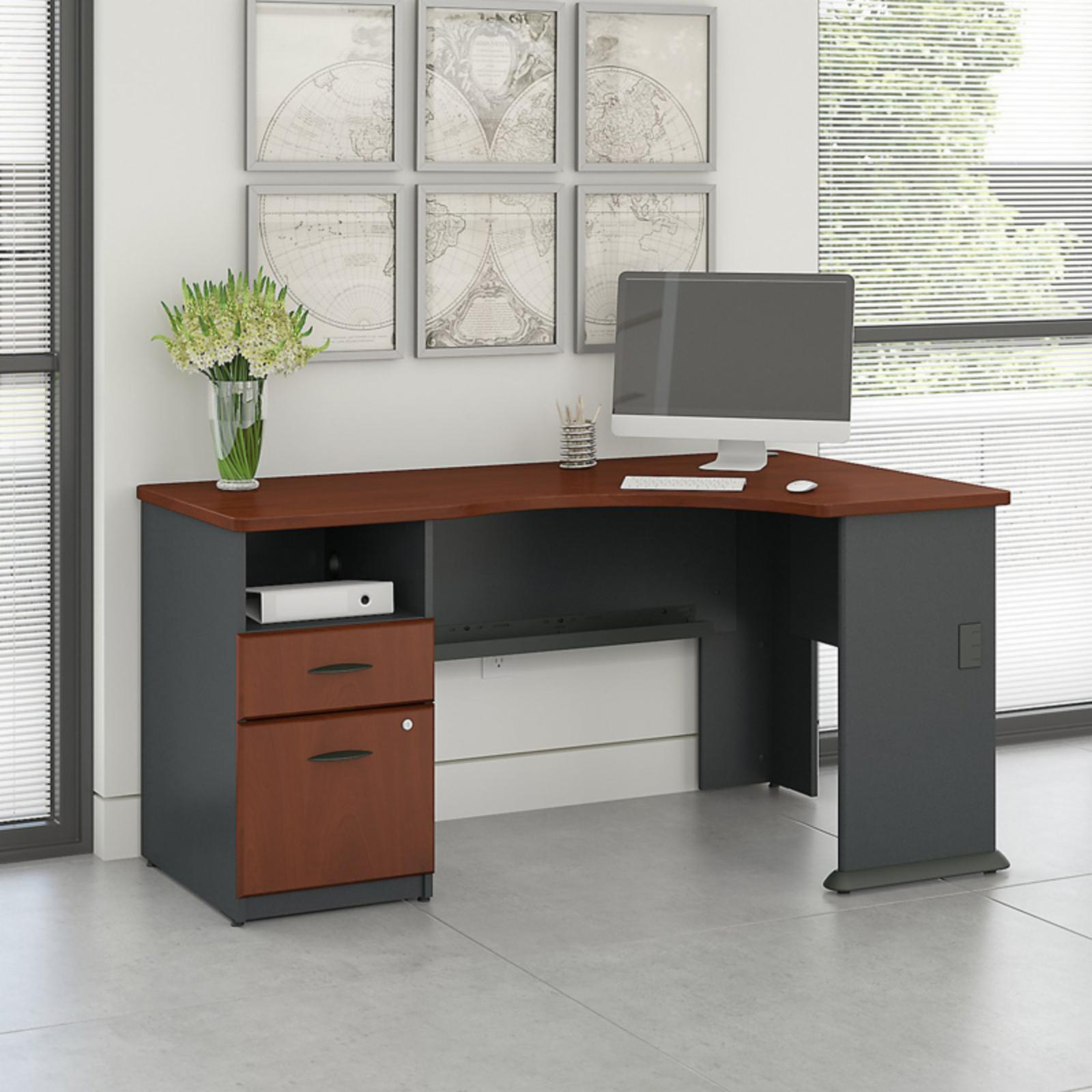Office Connect Access Corner Office Desk with Pedestal - ACS001HC