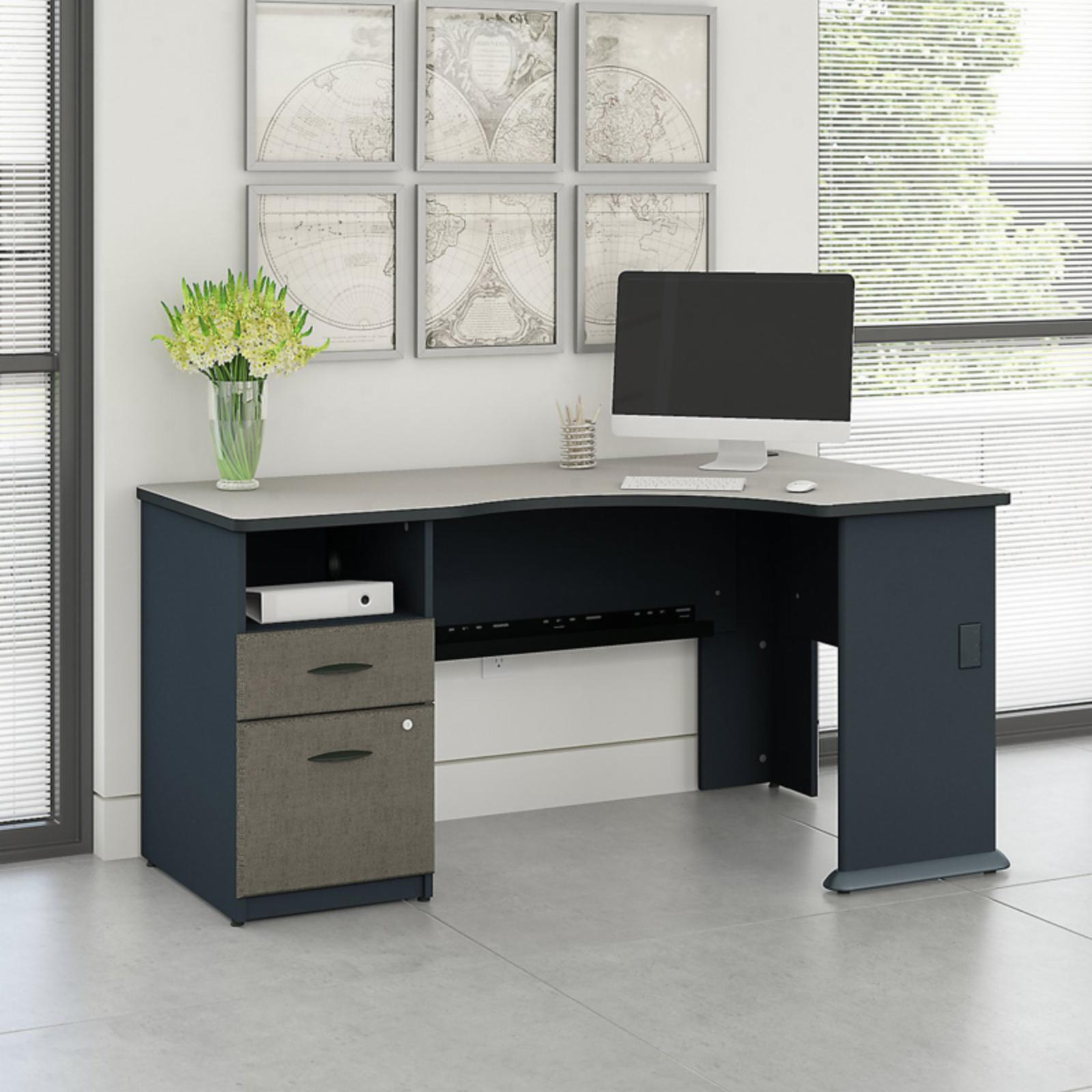 Office Connect Access Corner Office Desk with Pedestal - ACS001SL
