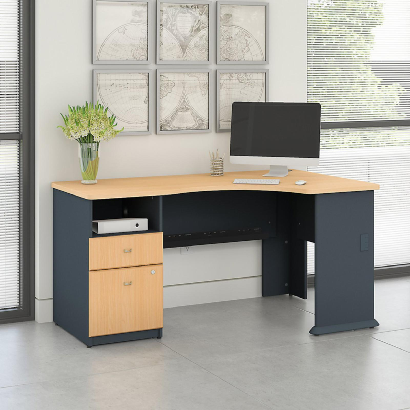 Office Connect Access Corner Office Desk with Pedestal - ACS001BE
