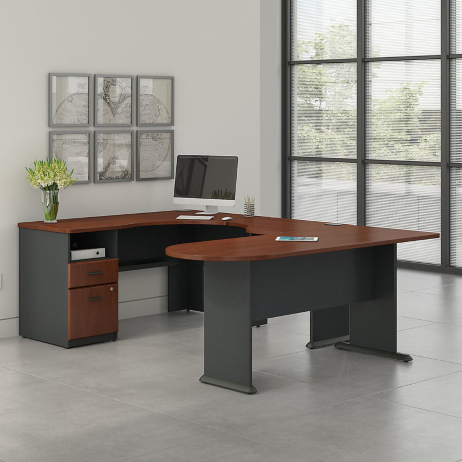 Office Connect Access U Shaped Corner Desk with Pedestal - ACS003HC