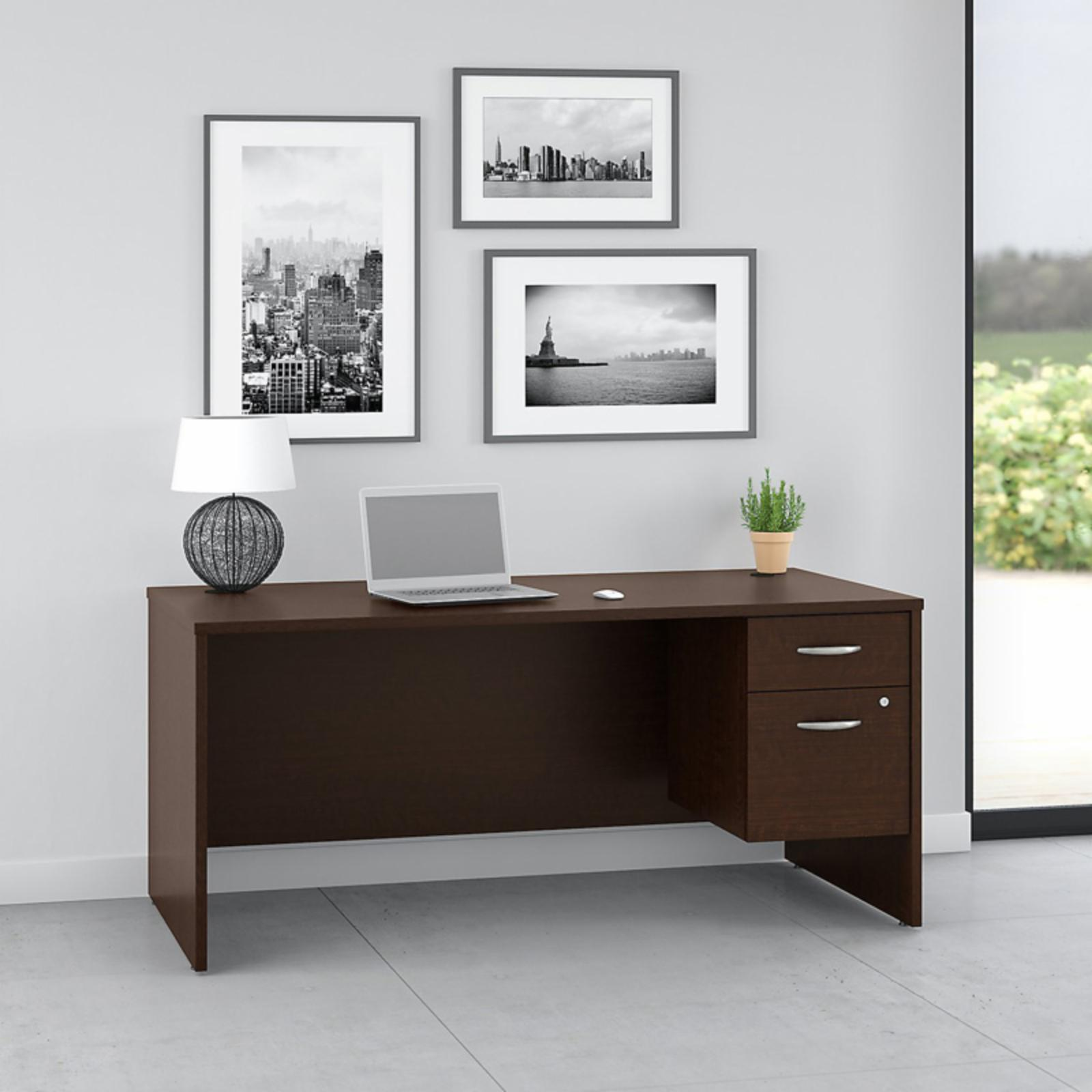 Office Connect Pro Office Computer Desk with Pedestal - PRF001MR