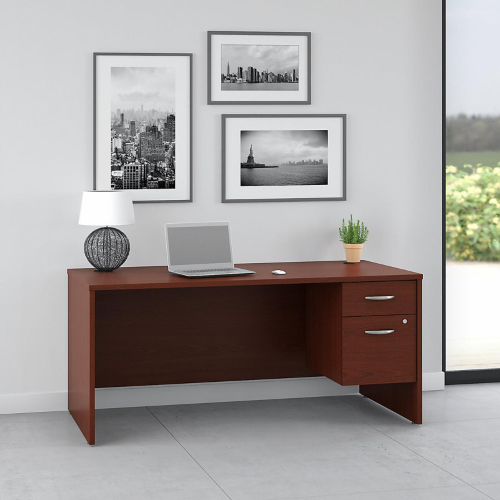 Office Connect Pro Office Computer Desk with Pedestal - PRF001MA
