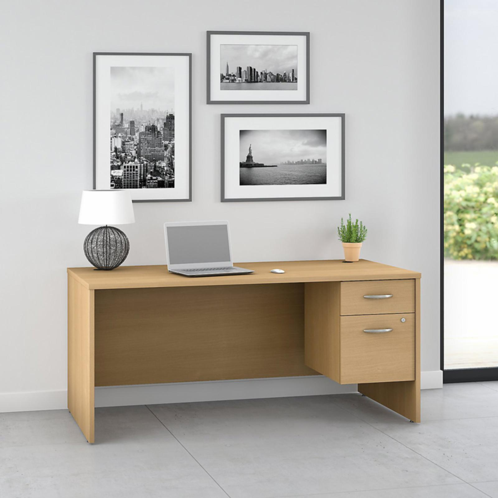 Office Connect Pro Office Computer Desk with Pedestal - PRF001LO