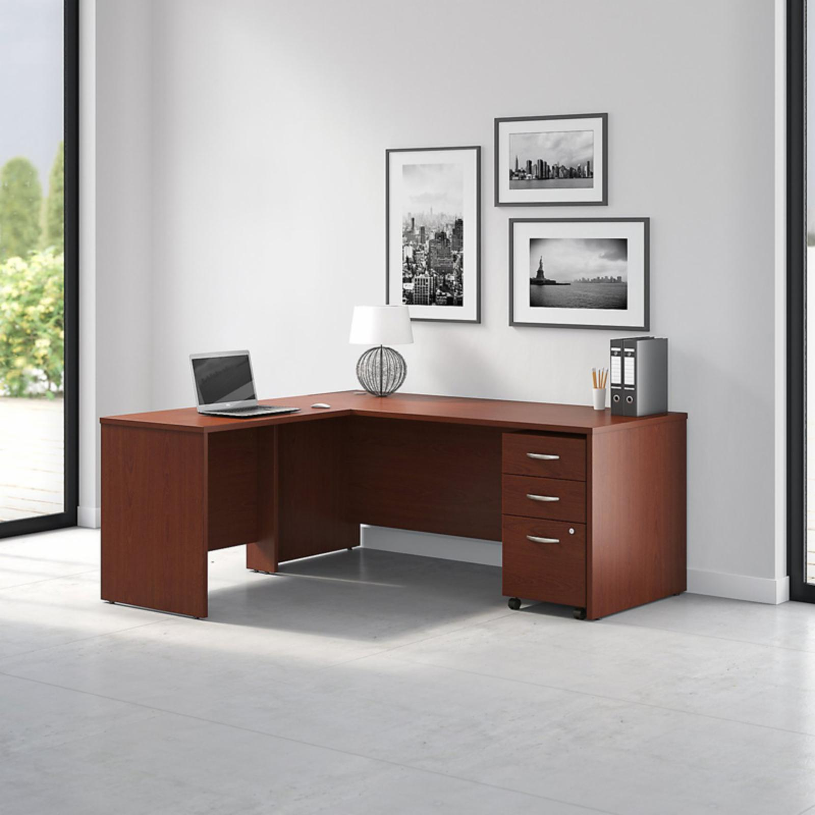 Office Connect Pro Office L Shaped Desk with Mobile Pedestal - PRF002MA