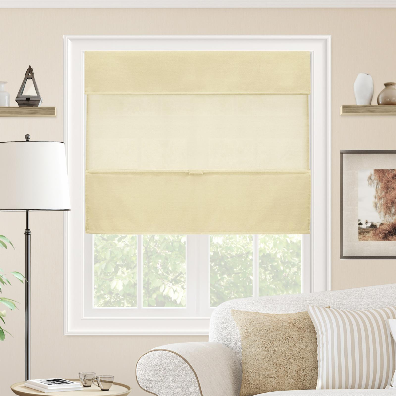 Chicology Cordless Magnetic Roman Shades Daily Canvas
