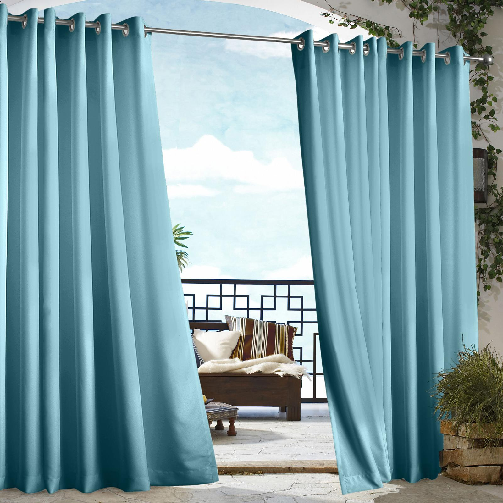 Commonwealth Outdoor Decor Gazebo Grommet Outdoor Curtain...