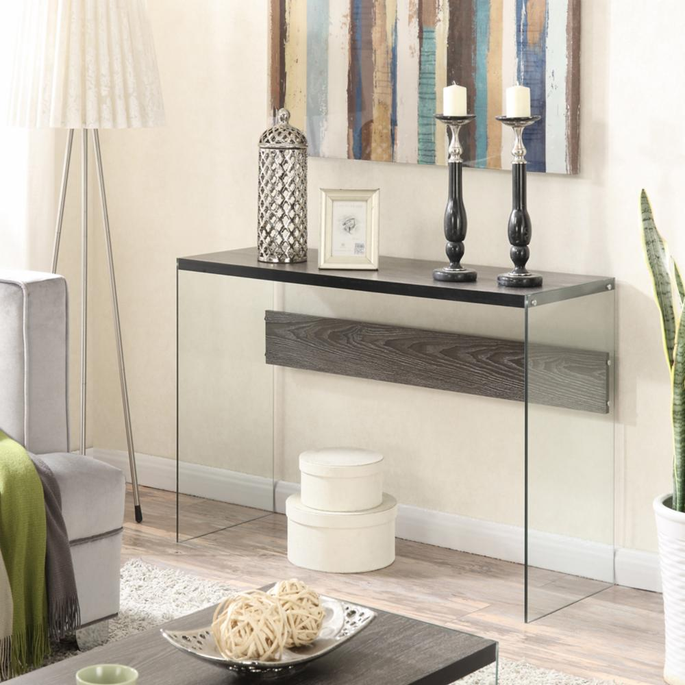 Convenience concepts soho console table in weathered gray ebay picture 2 of 2 geotapseo Choice Image