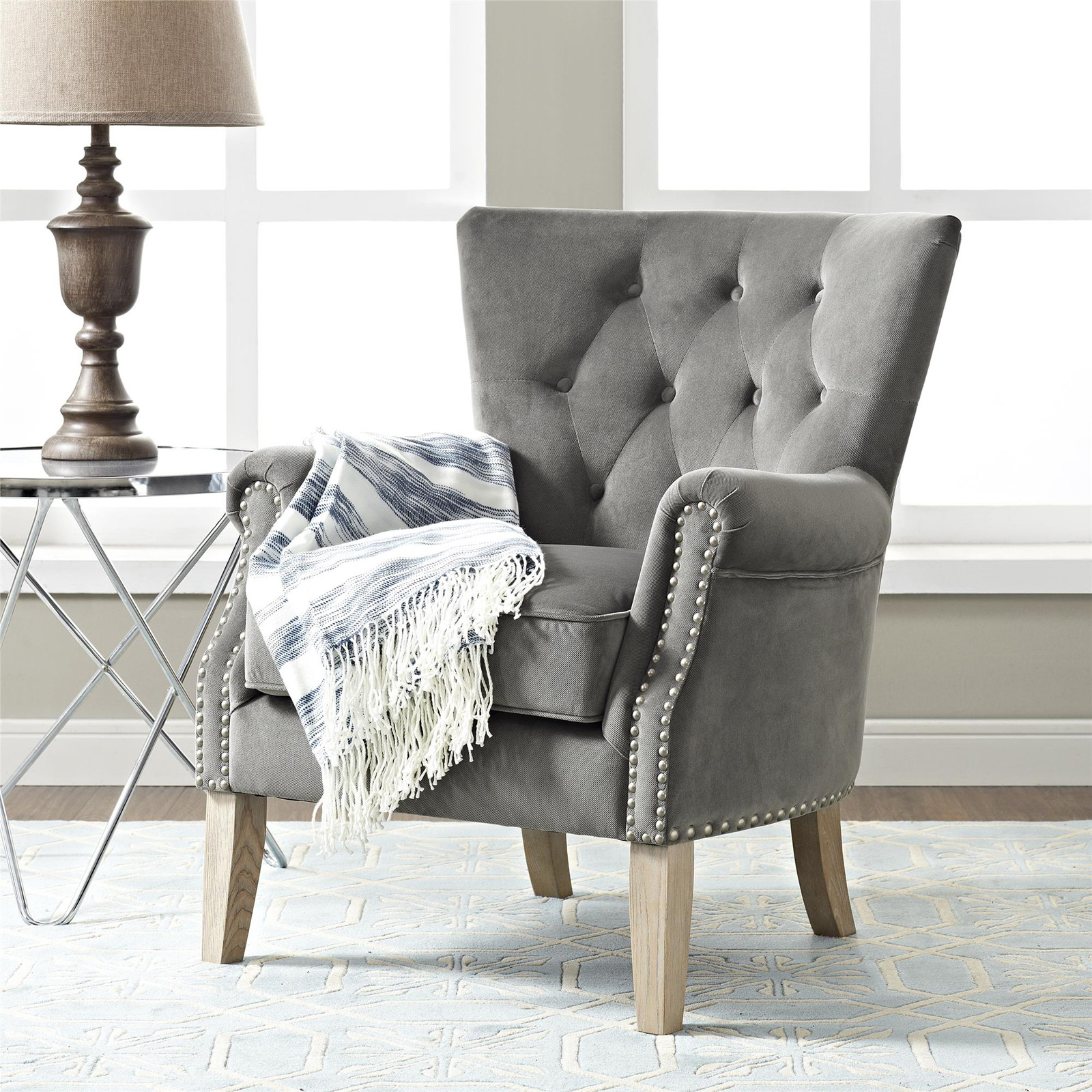 Better Homes U0026 Gardens Rolled Arm Accent Chair
