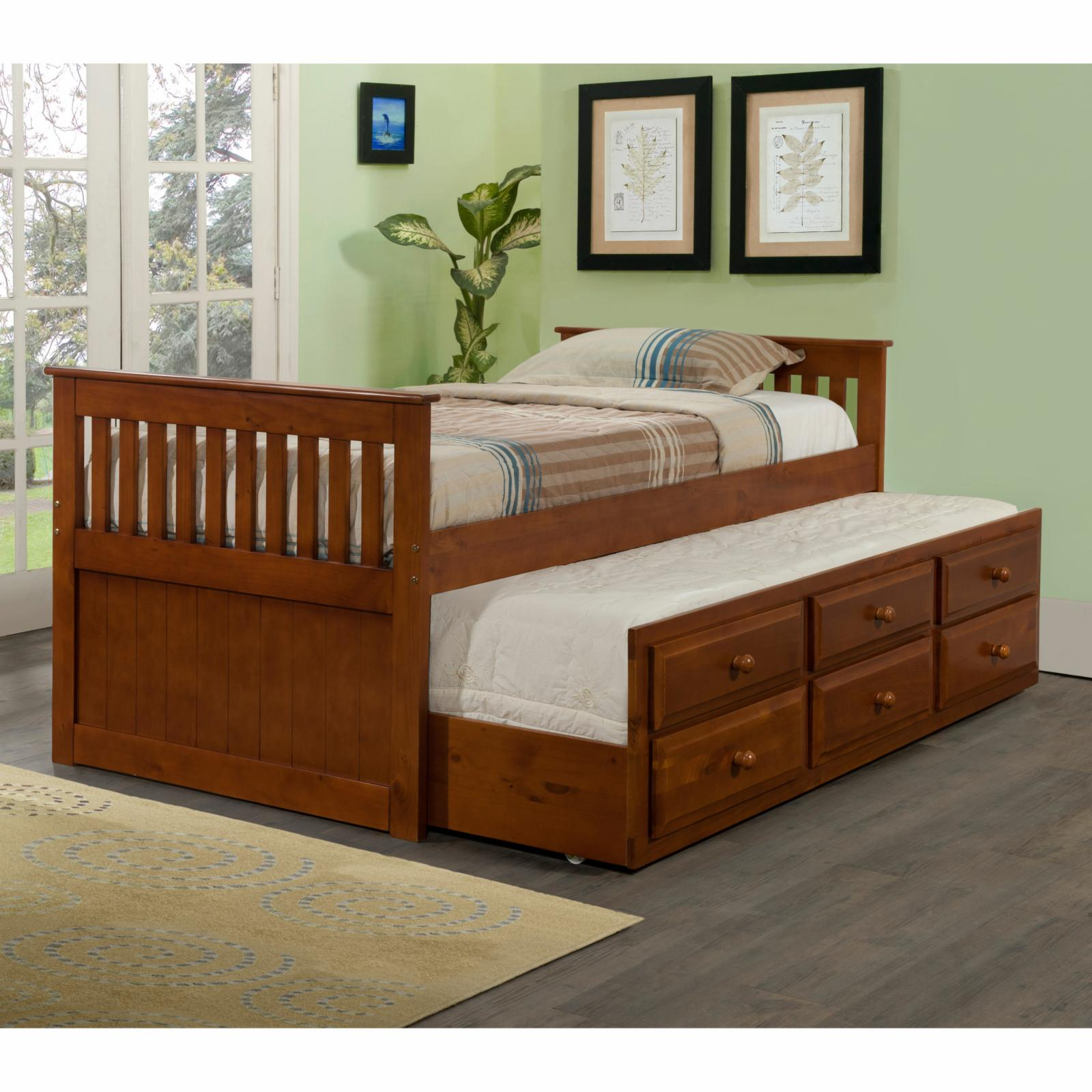 Donco Kids Captains Twin Trundle Bed, Size: Full/Double -...