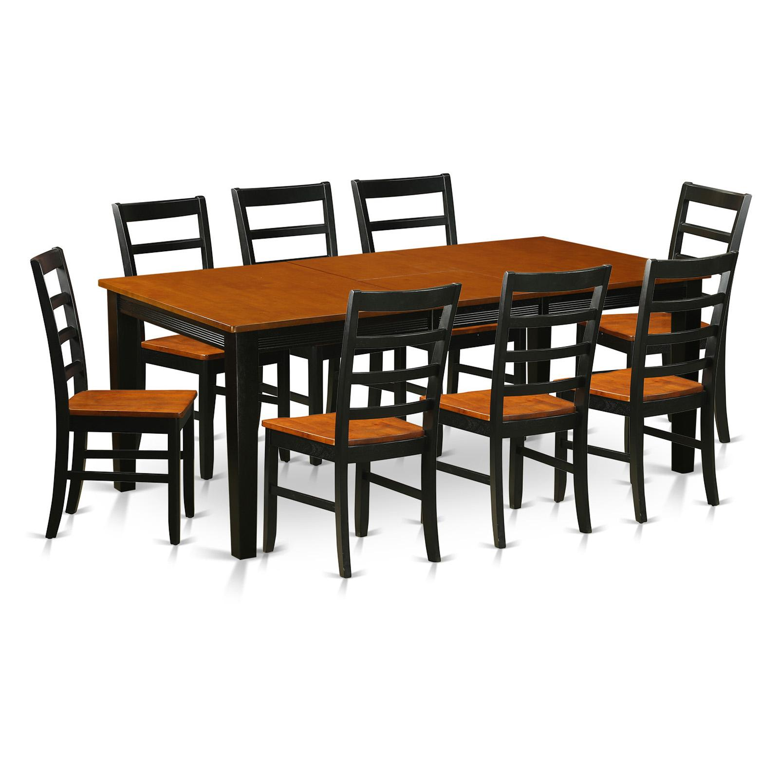 East West Furniture Quincy 9-Piece Shaker Dining Table Se...