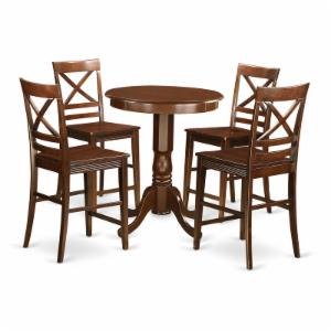 East West Furniture Eden 5 Piece Cross-And-Ladder Dining Table Set