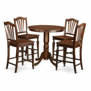 East West Furniture Jackson 5 Piece High Splat Dining Table Set