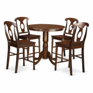 East West Furniture Jackson 5 Piece Keyhole Dining Table Set
