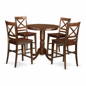 East West Furniture Jackson 5 Piece Cross-And-Ladder Dining Table Set