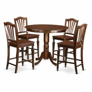 East West Furniture Trenton 5 Piece High Splat Dining Table Set