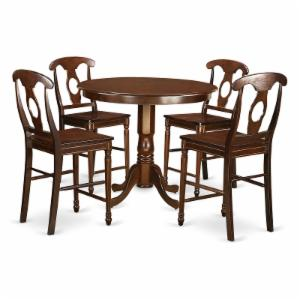 East West Furniture Trenton 5 Piece Keyhole Dining Table Set