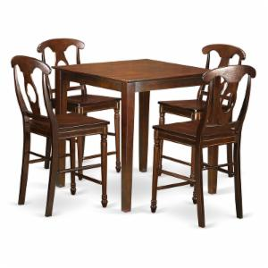 East West Furniture Vernon 5 Piece Keyhole Dining Table Set