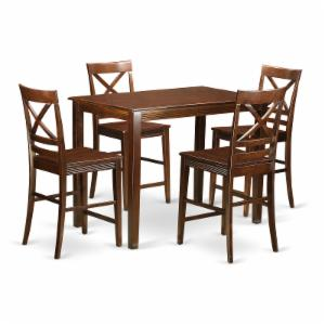 East West Furniture Yarmouth 5 Piece Cross-And-Ladder Dining Table Set