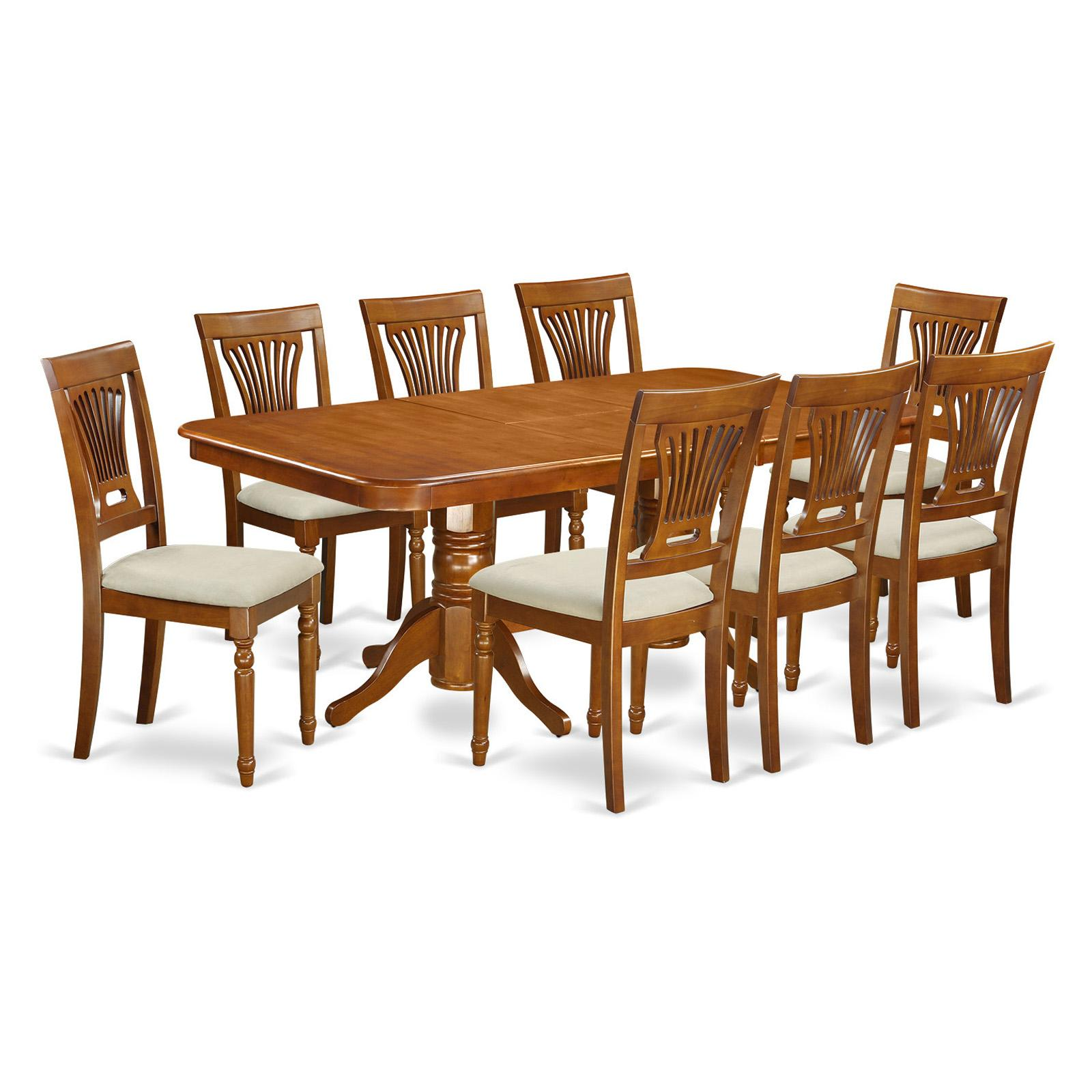East West Furniture Kenley 9 Piece Dining Table Set With