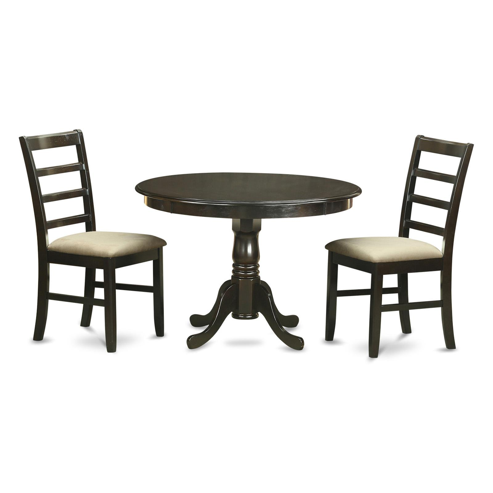 East West Furniture Hartland 3 Piece Shaker Dining Table ...